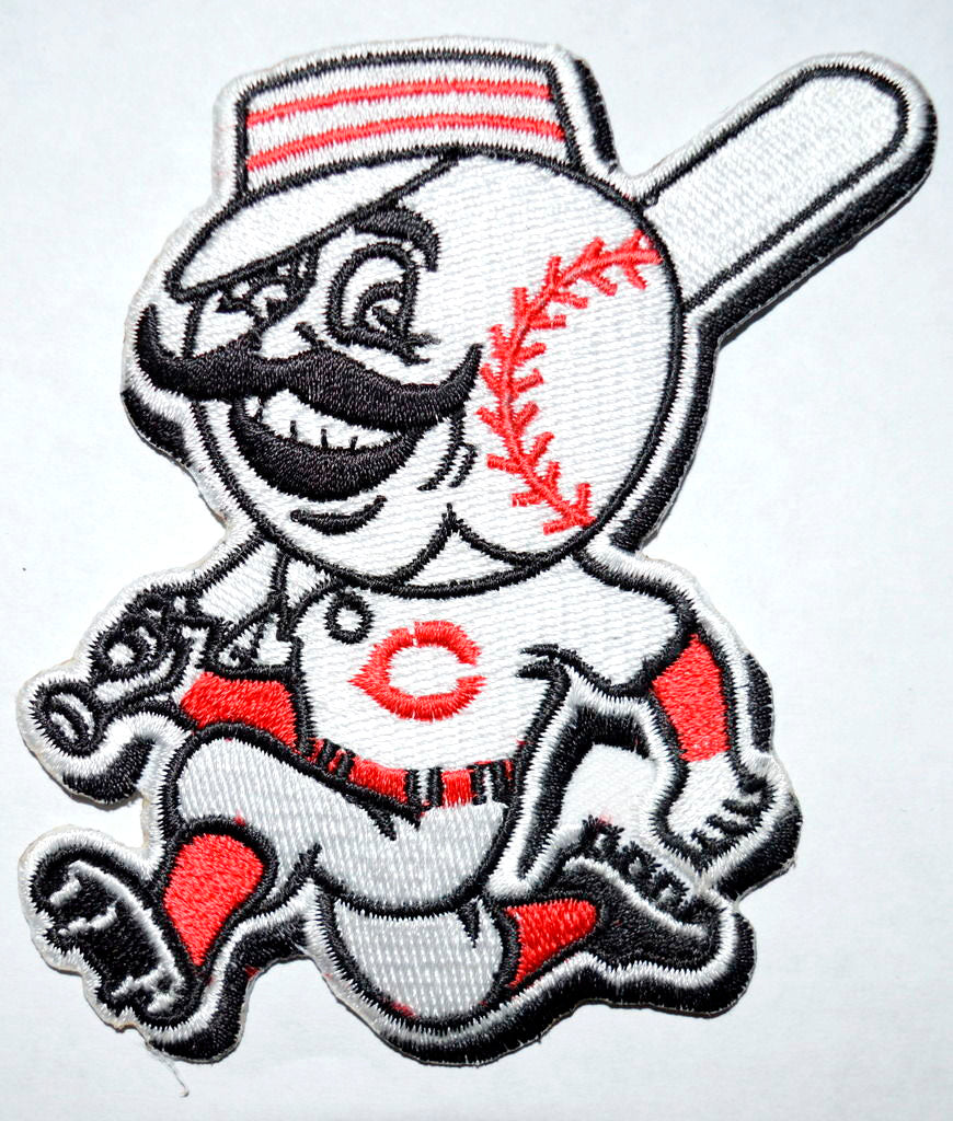 Cincinnati Reds Running Man Jersey Iron on Embroidered Patch - Patches-Badges
