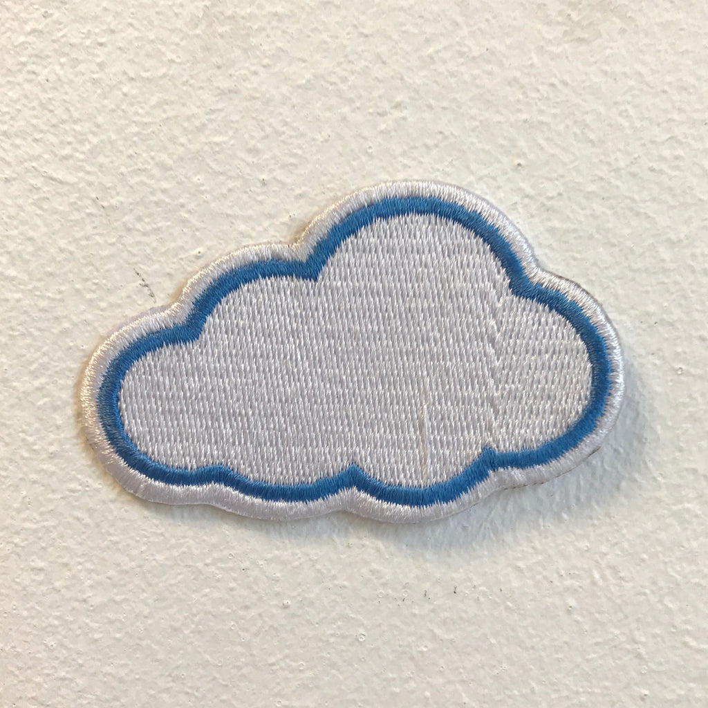 Cute Little Cloud Badge Iron on Sew on Embroidered Patch