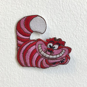 Cheshire Cat Alice in wonderland Iron Sew on Embroidered Patch - Patches-Badges