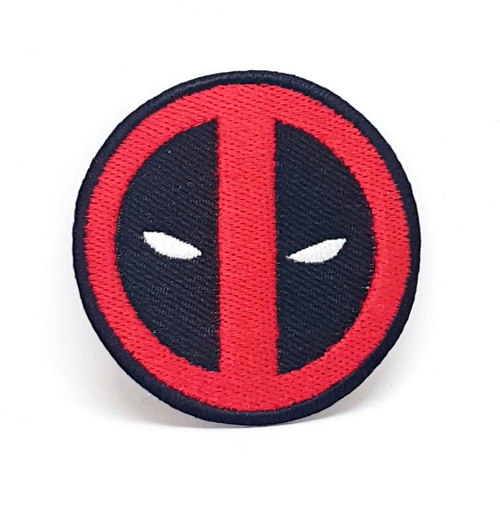 Comic Character Marvel Avengers and DC Comics Iron or Sew on Embroidered Patches - DeadPool logo - Patches-Badges