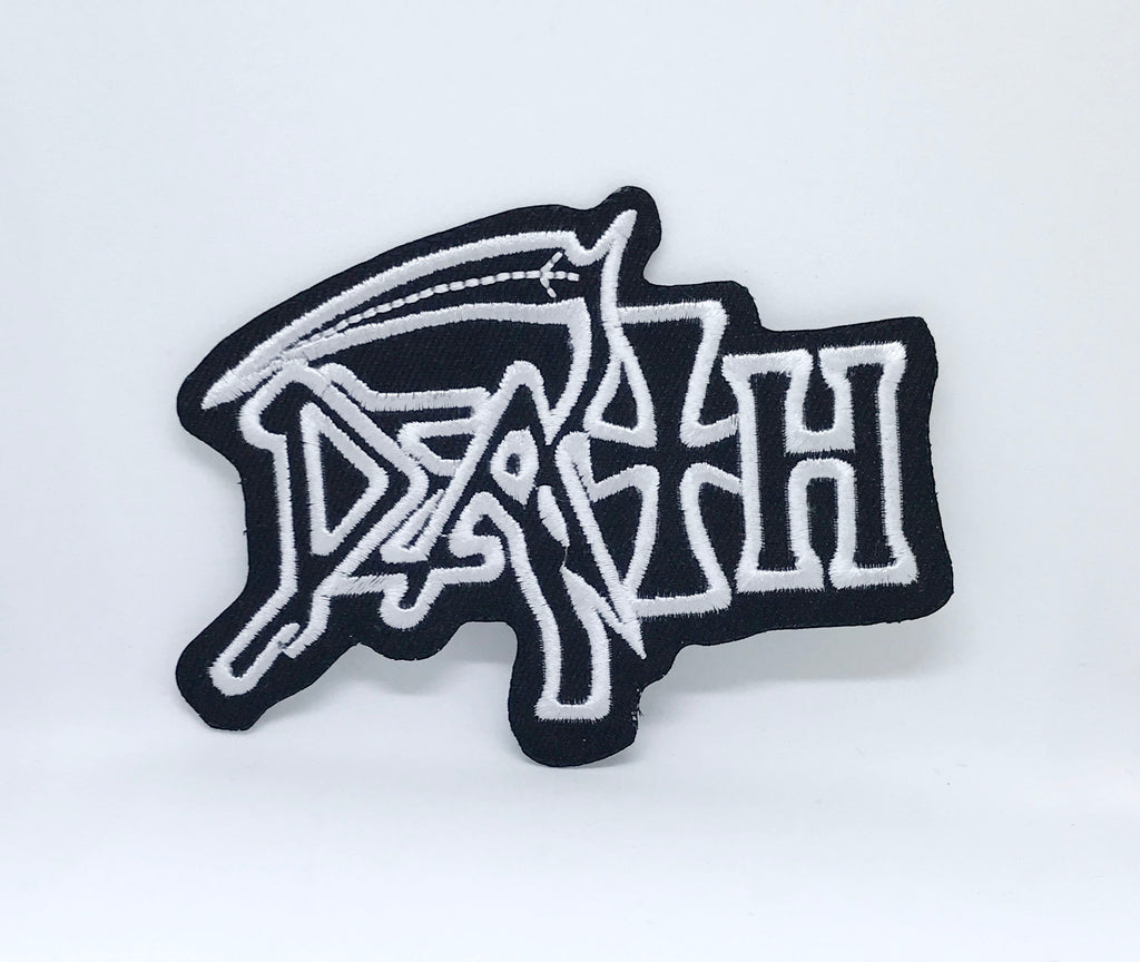 DEATH American Metal Band Iron On Patch Embroidered Logo Heavy Rock Music