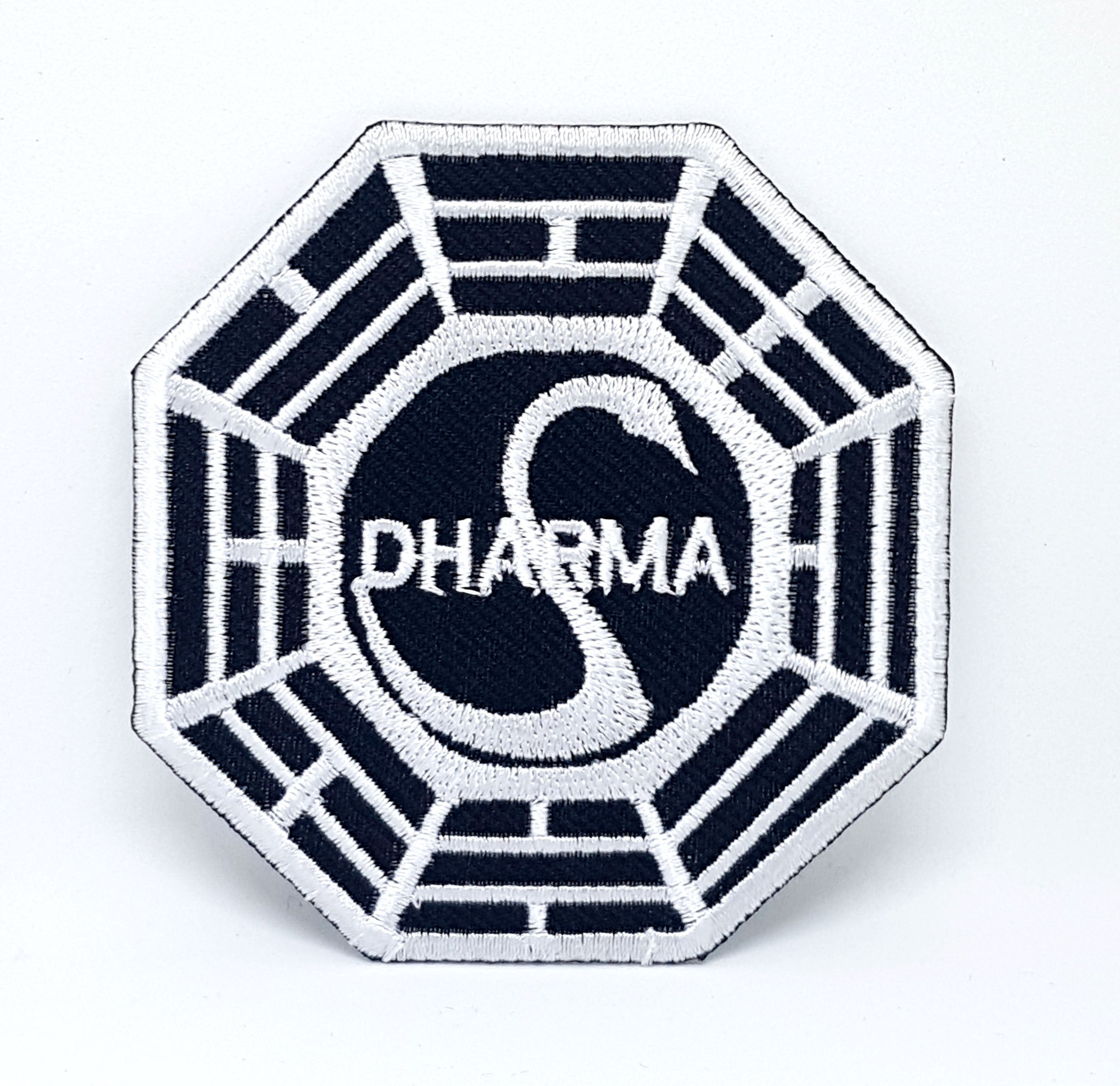 Dharma LOST Swan Initiative Iron/sew On Embroidered Patch - Patches-Badges