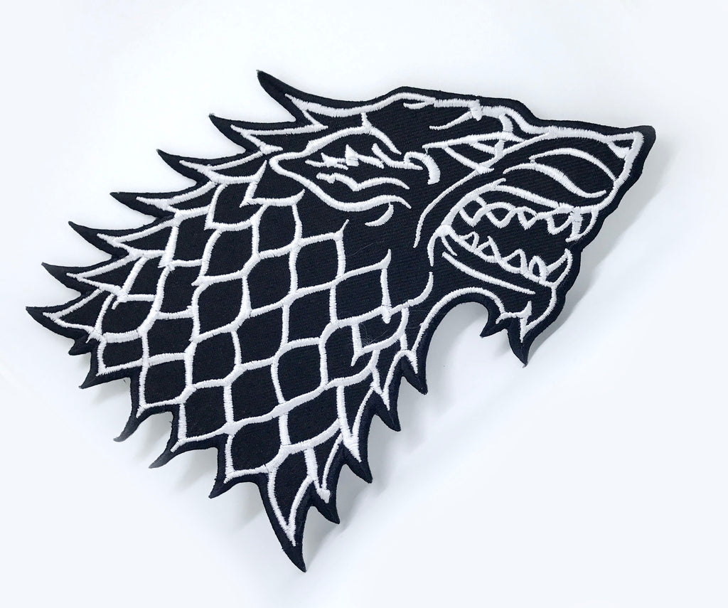 Game of Thrones Houses Collection Iron on Sew on Embroidered Patches - Wolf - Patches-Badges