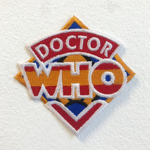 Doctor Who Series Logo Iron on Sew on Embroidered Patch