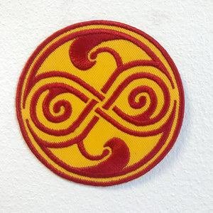 Doctor Who Seal of rassilon Iron on Sew on Embroidered Patch