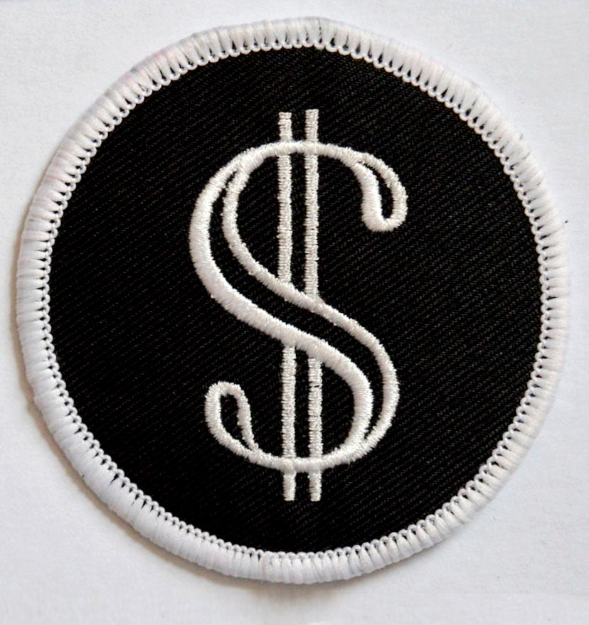 Dollar sign Iron On Sew on Embroidered Patch - Patches-Badges