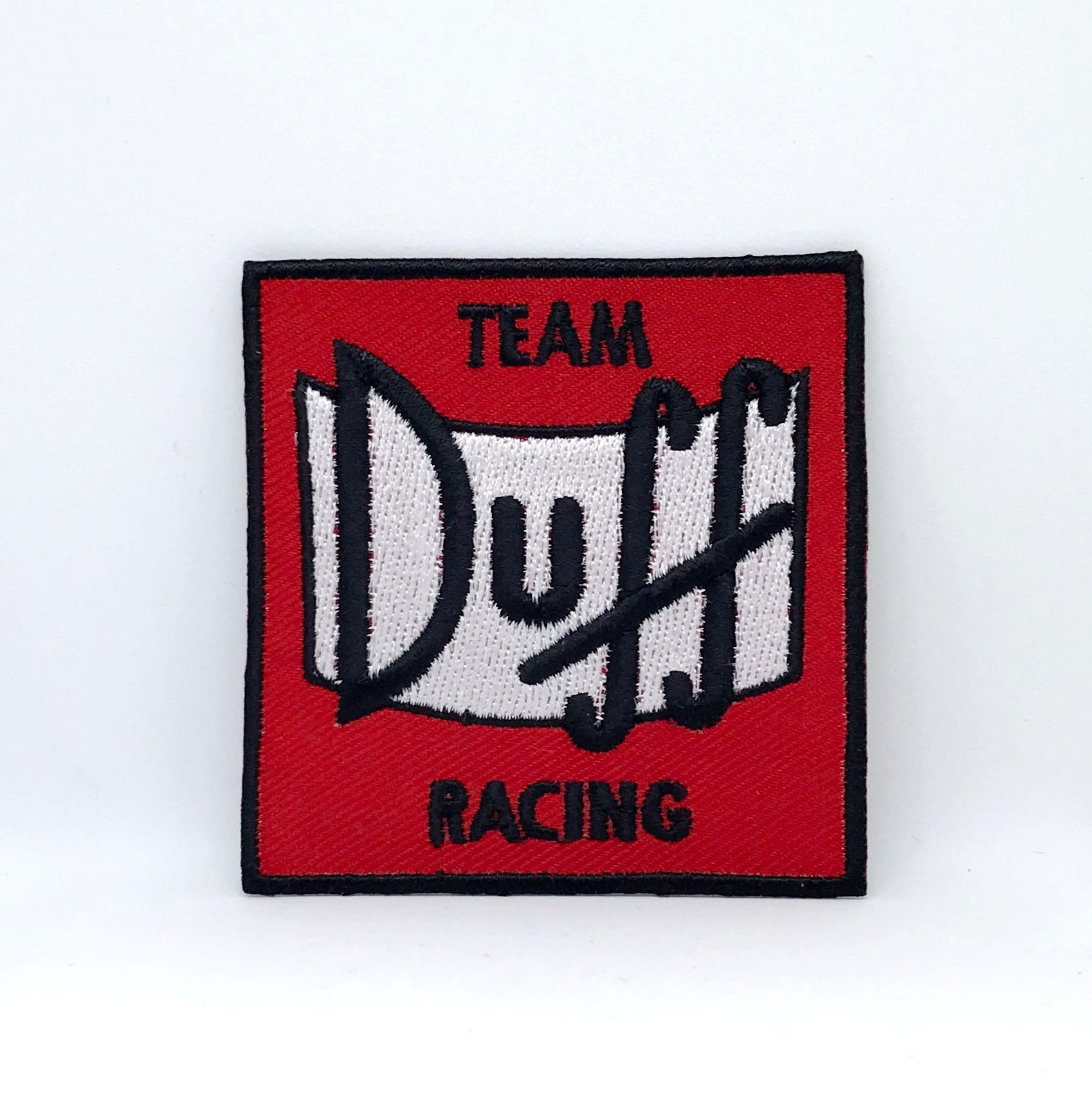 THE SIMPSONS TEAM DUFF RACING Iron Sew on Embroidered Patch