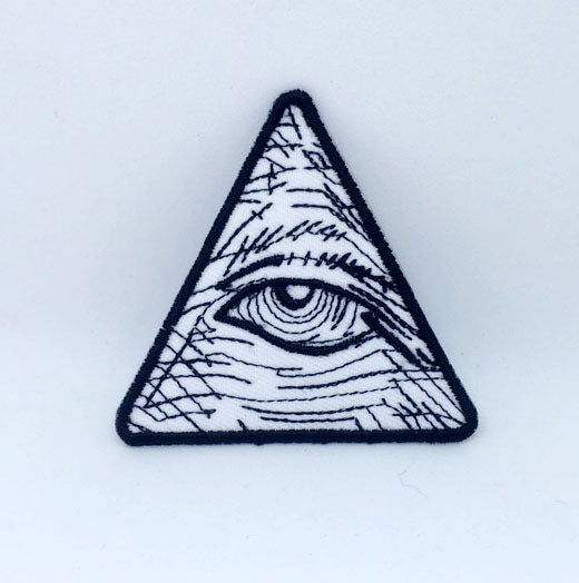 Eye of Providence Pyramid Iron on Sew on Embroidered Patch