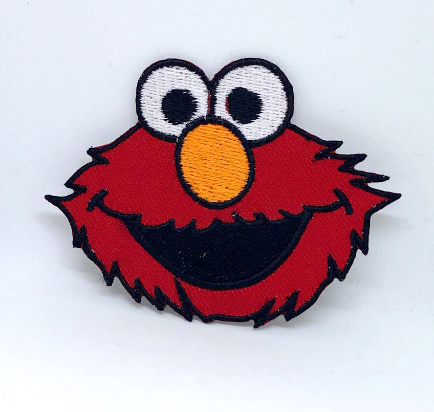 Sesame Street ELMO Big Face Iron on Sew on Embroidered Patch