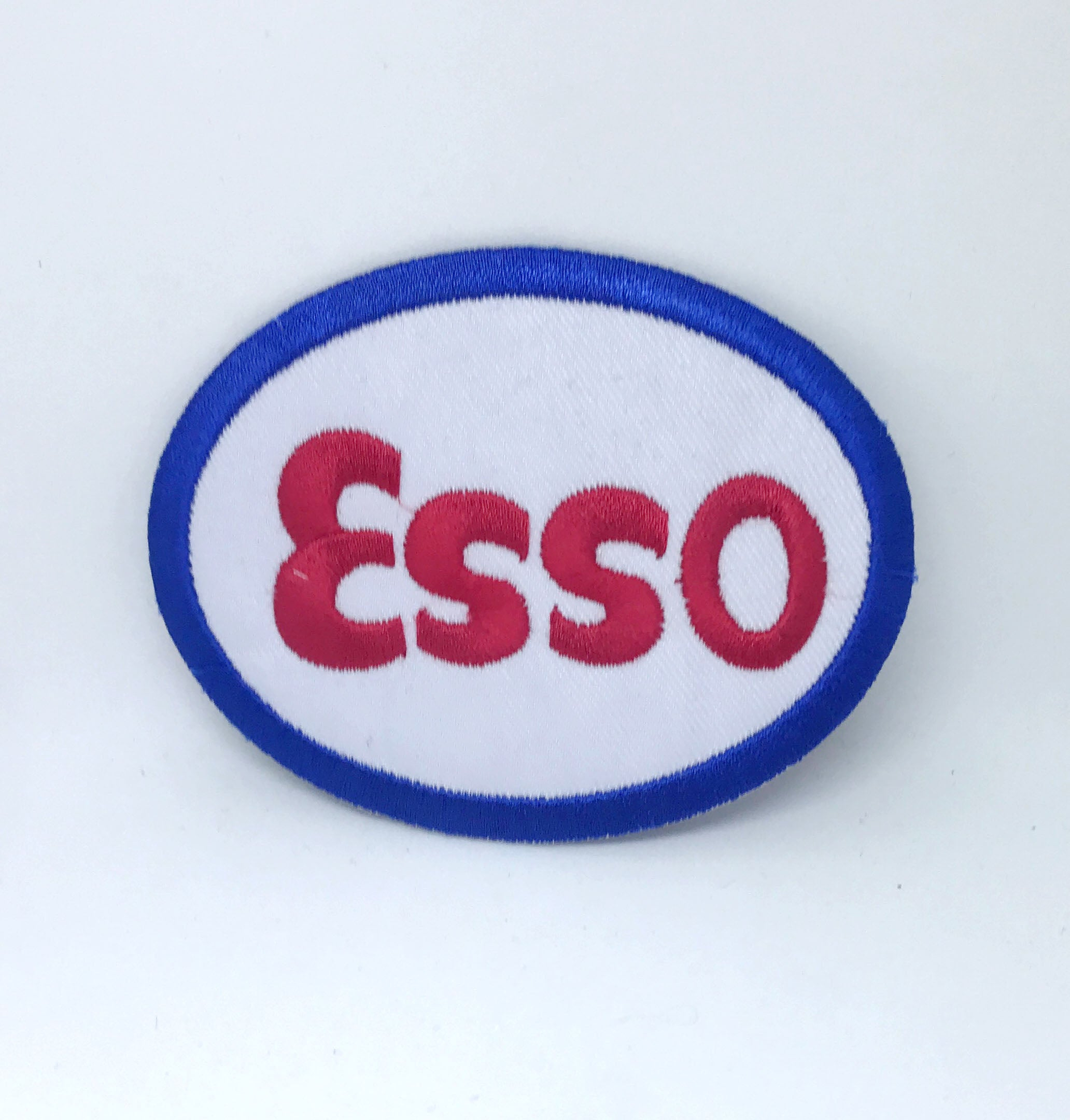 Esso Gasoline Car Iron on Sew on Embroidered Patch - Patches-Badges