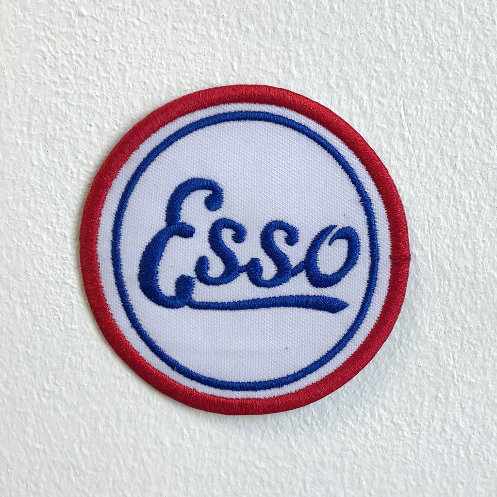 Esso Motor Oil badge Iron Sew on Embroidered Patch - Patches-Badges
