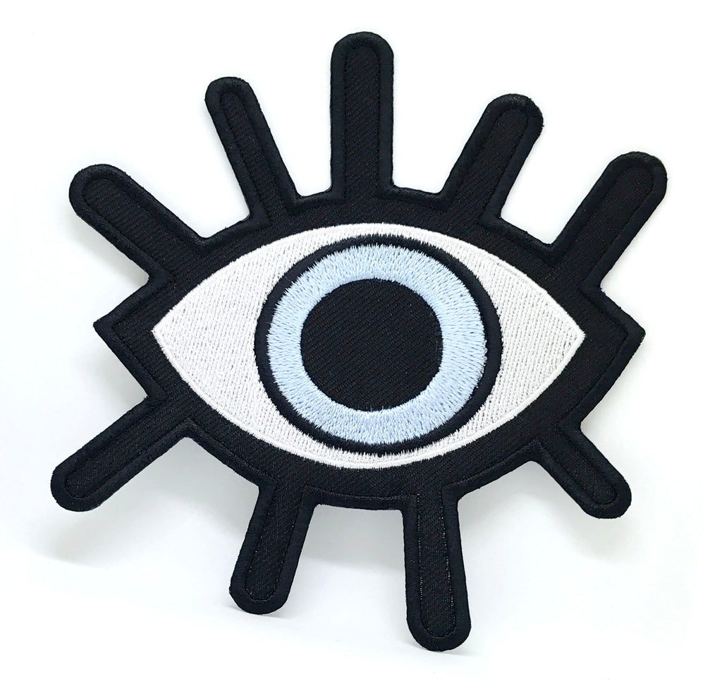 Evil Eye Illuminating Giant halloween Iron Sew On Embroidered Patch