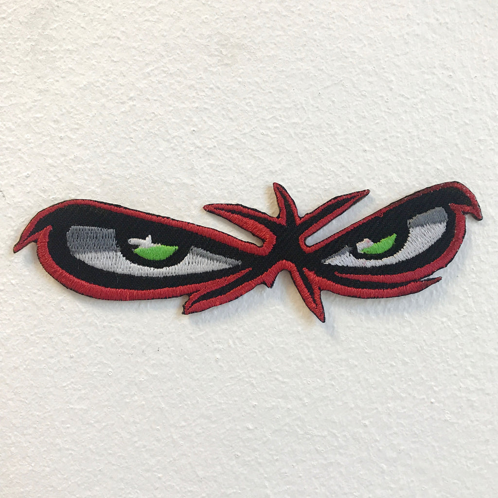 Angry red Eyes Bikers Jackets Iron on Sew on Embroidered Patch - Patches-Badges