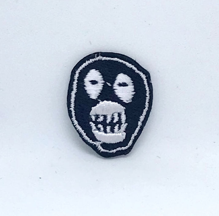 Mighty Boosh Mask Logo Small Iron on embroidered Patch Badge