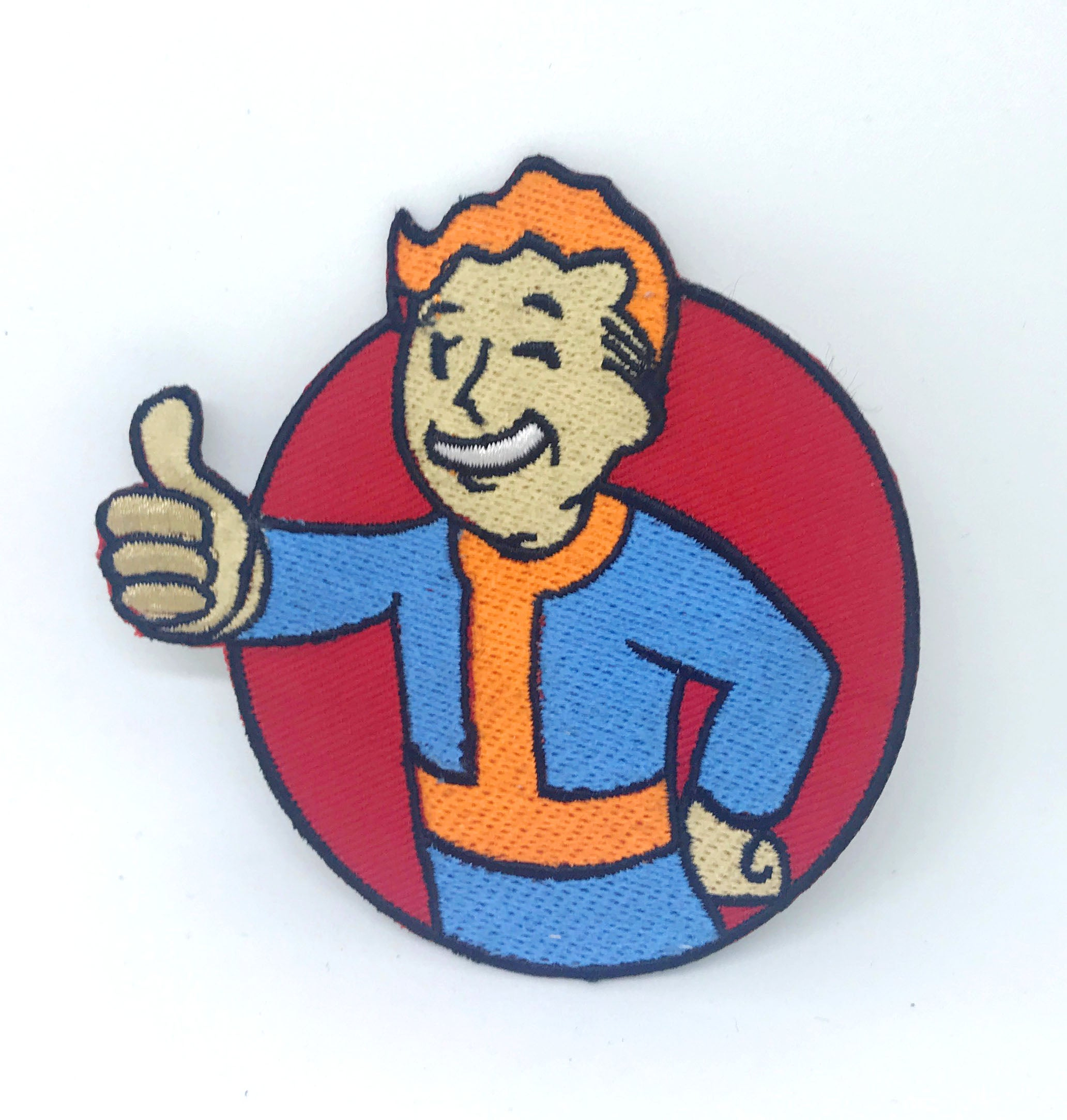Vault boy 'Fallout' game pip boy thumb punk Iron on Sew on Embroidered patch