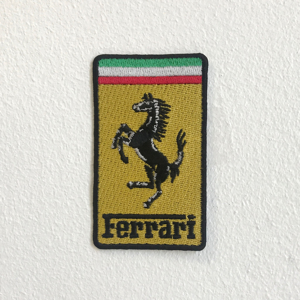 Ferrari Sports Car Automobile Manufacturer Iron Sew on Embroidered Patch