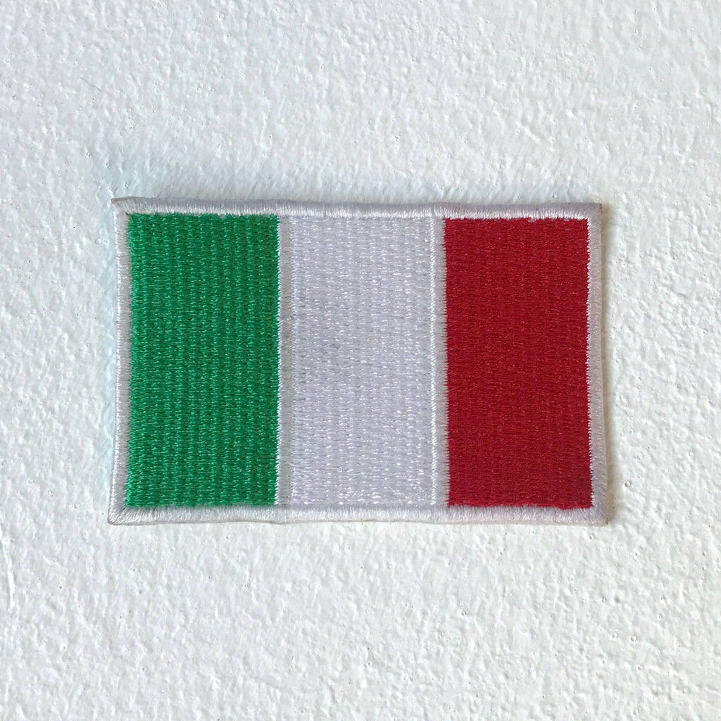 Italy Flag Motorsports Italian MotorGp Iron Sew on Embroidered Patch