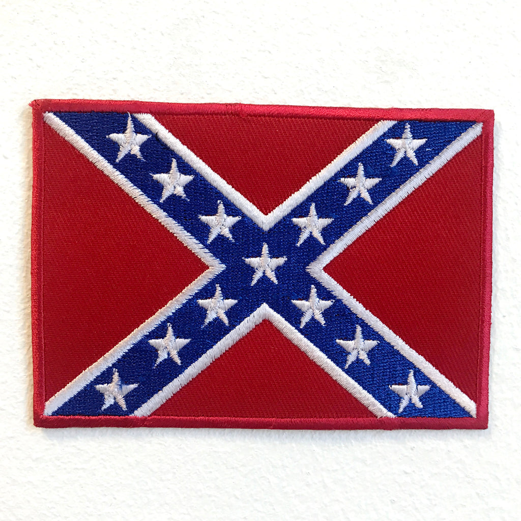 Southern Flag Dukes of Hazzard Iron on Sew on Embroidered Patch