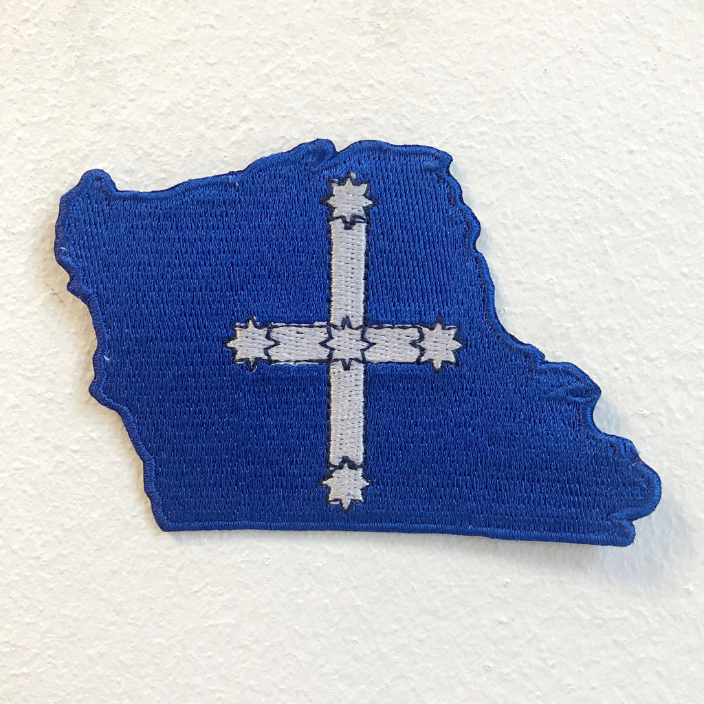 Southern Cross Flag Map Iron on Sew on Embroidered Patch