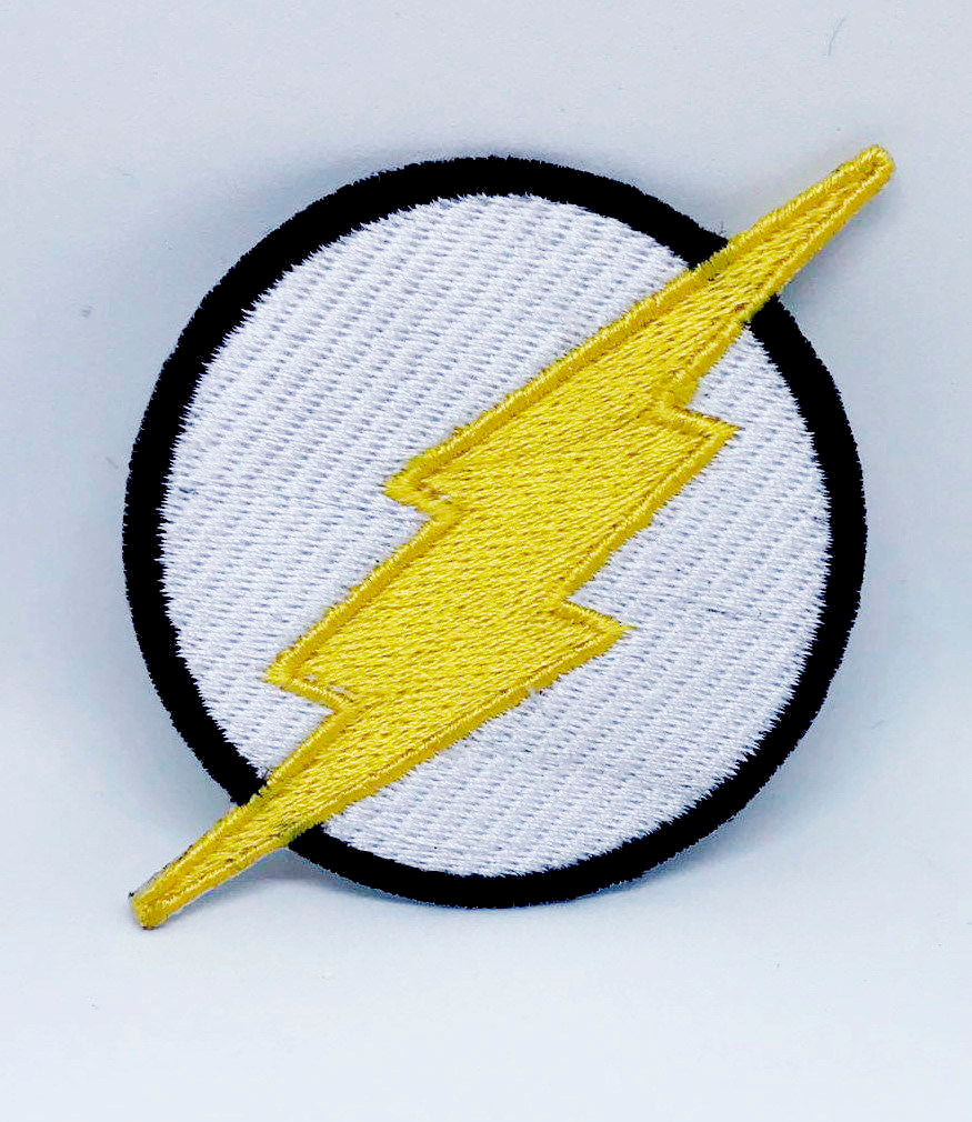 Comic Character Marvel Avengers and DC Comics Iron or Sew on Embroidered Patches - The Flash Logo-1 - Patches-Badges