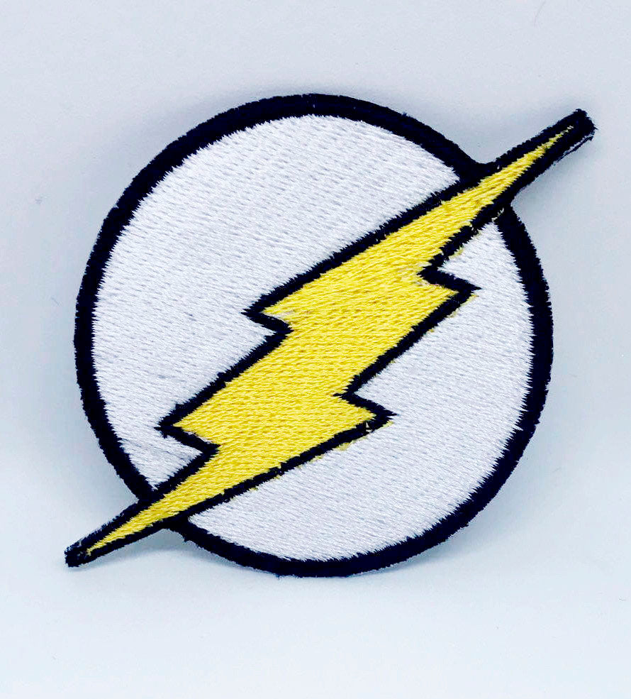 Comic Character Marvel Avengers and DC Comics Iron or Sew on Embroidered Patches - The Flash Logo-2 - Patches-Badges