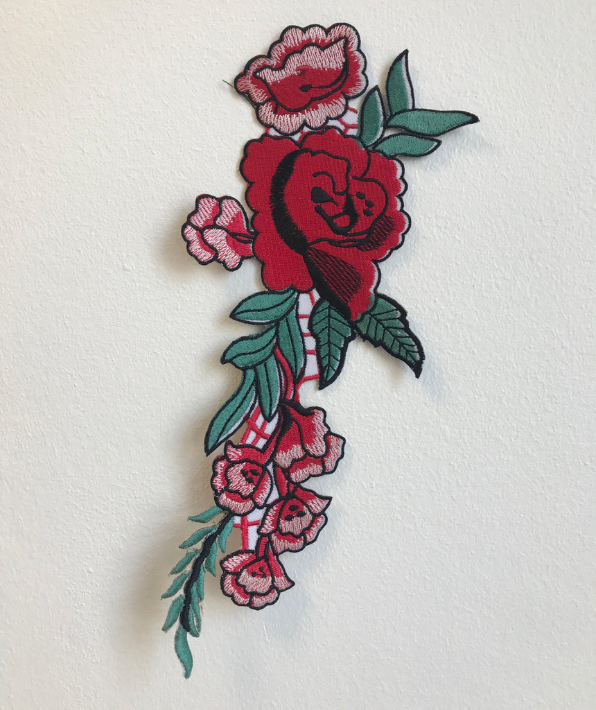 Rose Flower body Iron Sew On Embroidered Applique patches
