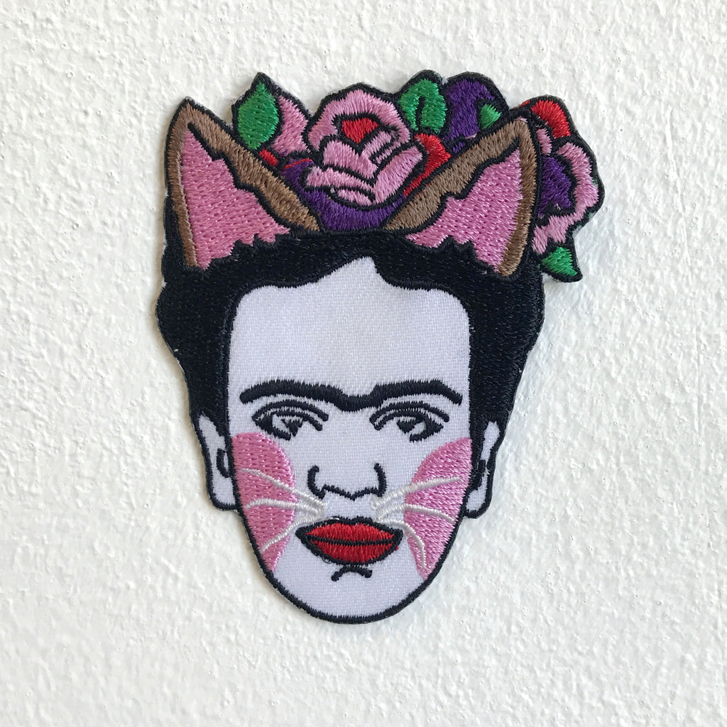 Frida Kahlo Self Portrait Back Iron Sew On Embroidered Patch