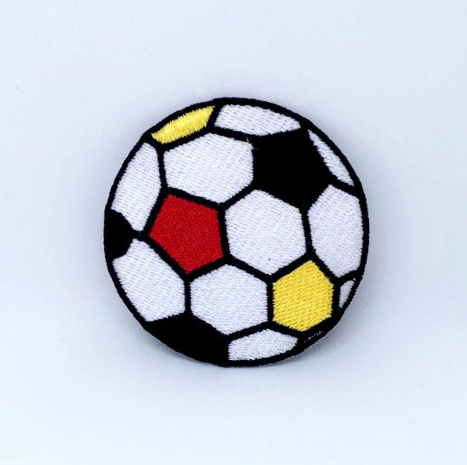 Football Colourful ball soccer Iron on Sew on Embroidered Patch