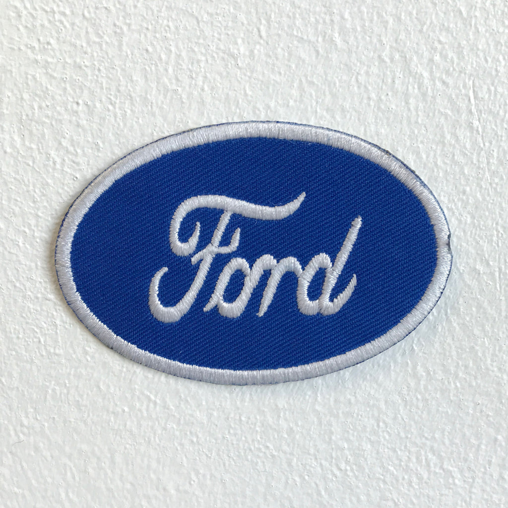 Ford Automobile Motorsports logo badge Iron Sew on Embroidered Patch