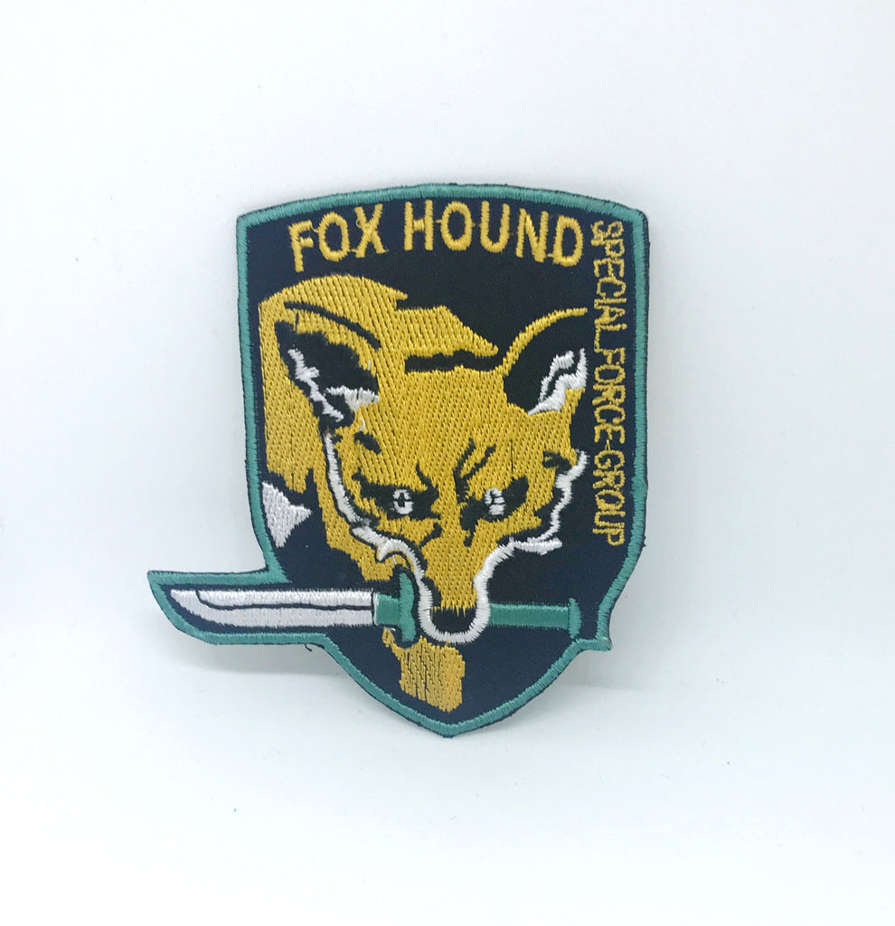 Metal Gear Fox Hound Foxhound Special Force iron/sew on Embroidered Patch