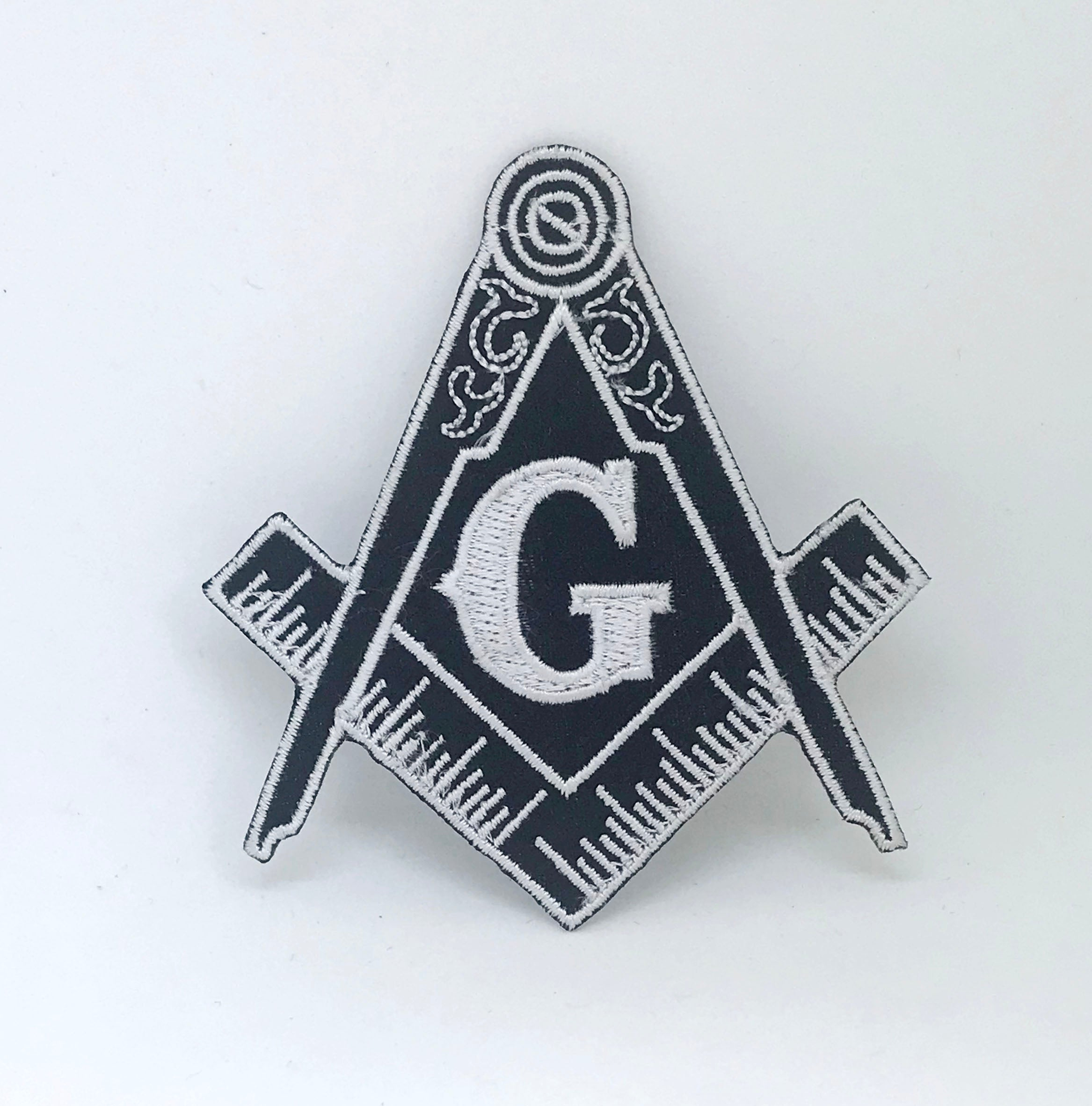 FREEMASON MASONIC Square & Compass Iron on Sew on Embroidered Patch