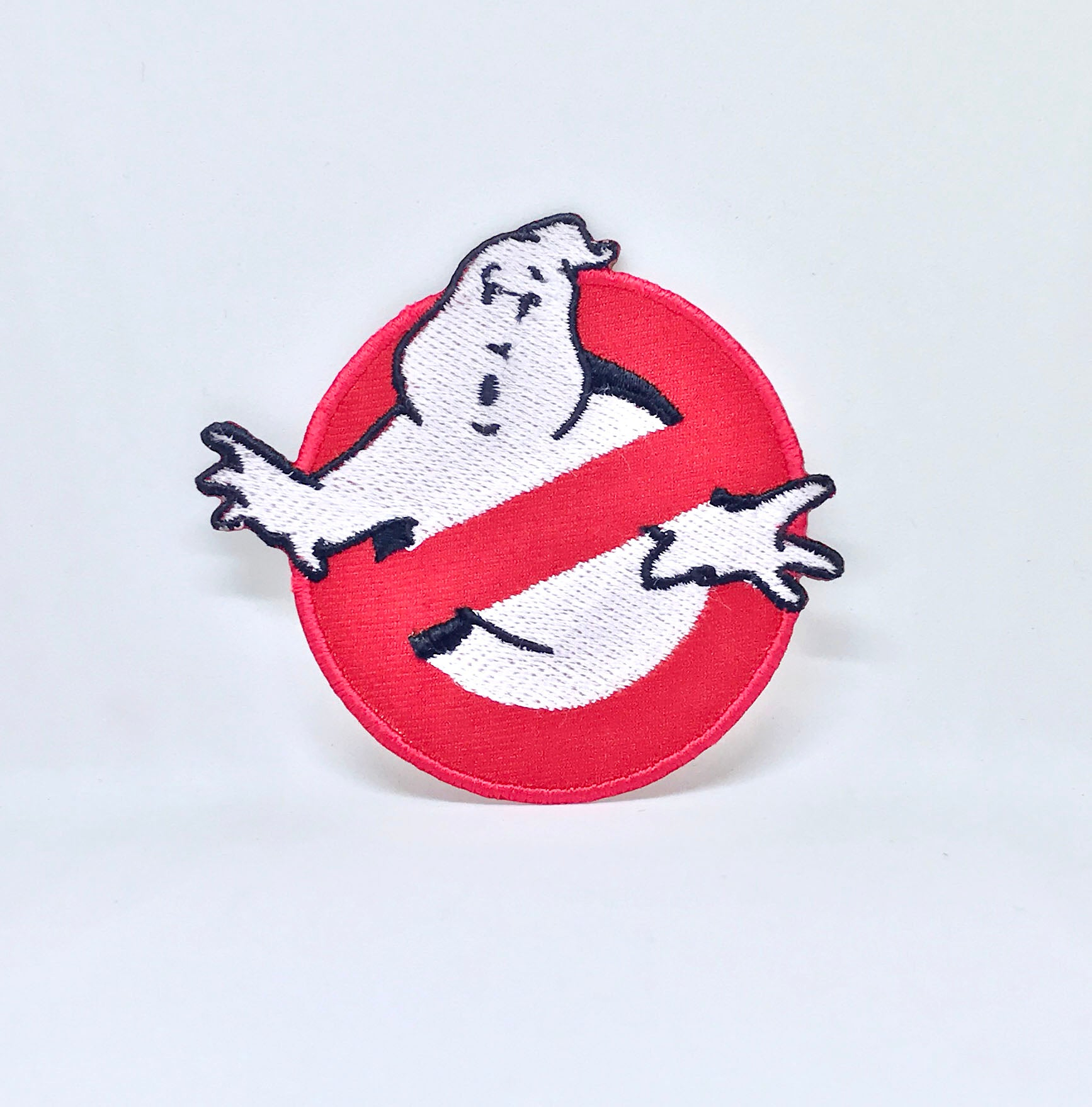 GHOSTBUSTERS Movie Fancy Dress logo Iron Sew On Embroidered Patch - Patches-Badges