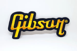 Gibson Guitar Logo Jacket T shirt Sew Iron on Embroidered Patch