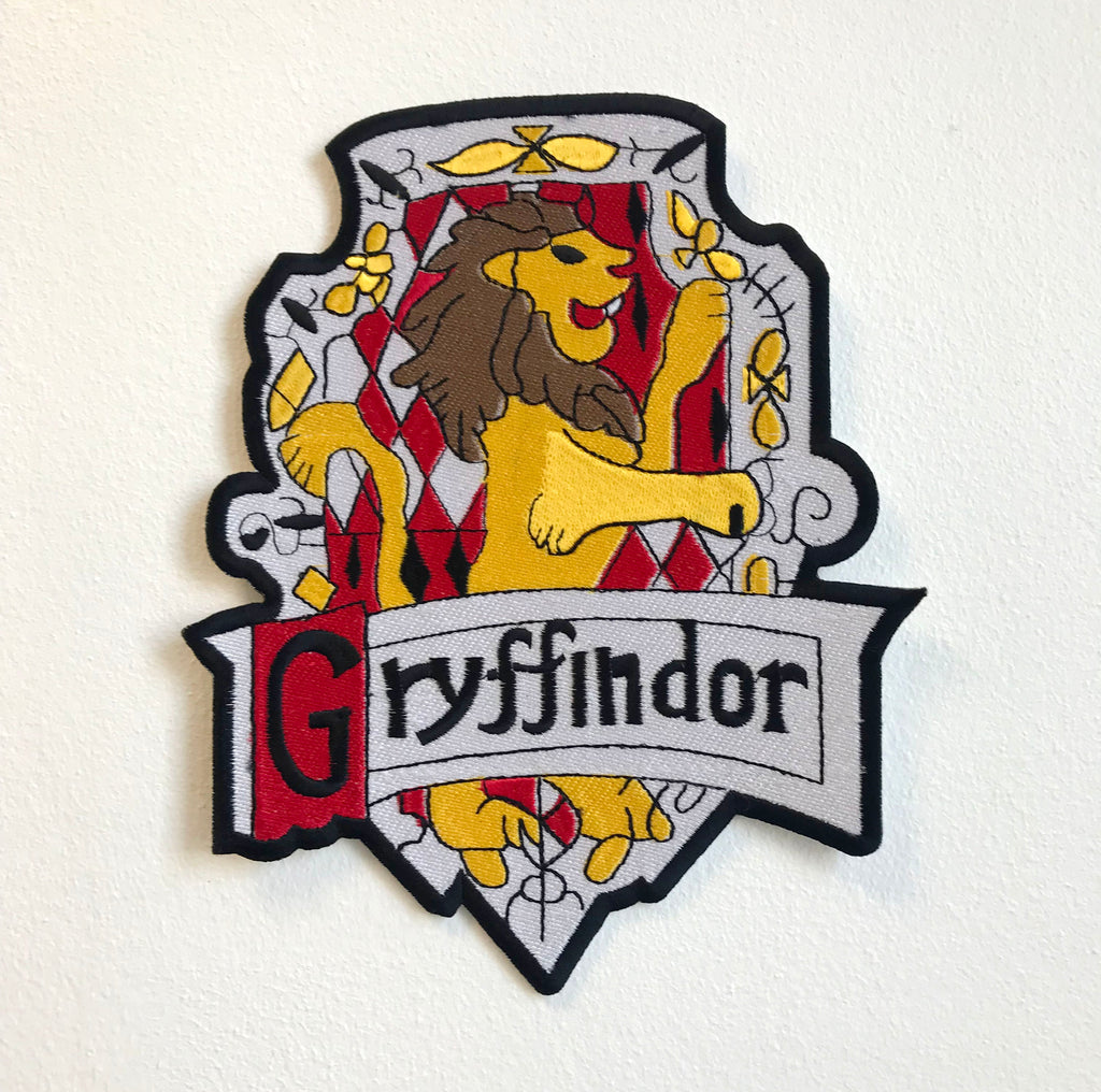Gryffindor Harry Porter Badge Large Sew On Embroidered Patch - Patches-Badges