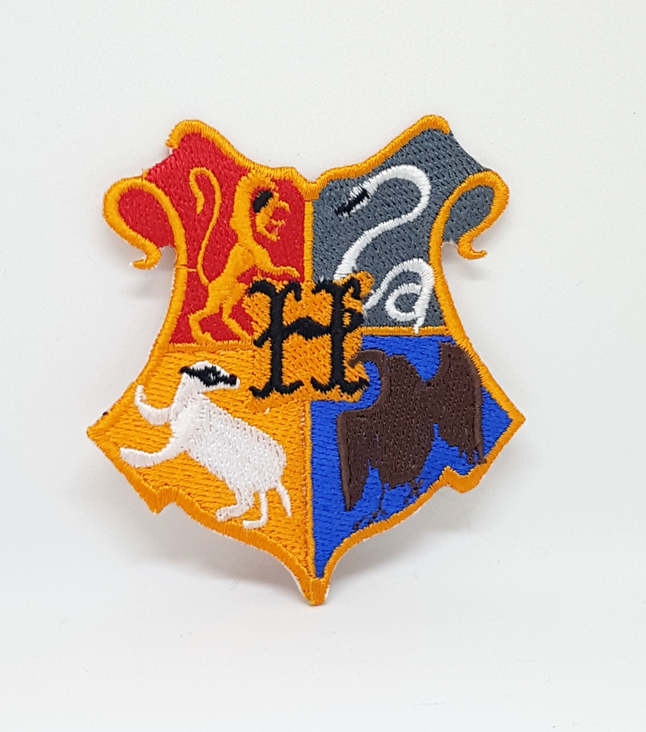 Harry Potter Hogwarts Orange Iron Sew on Embroidered Patch - Patches-Badges