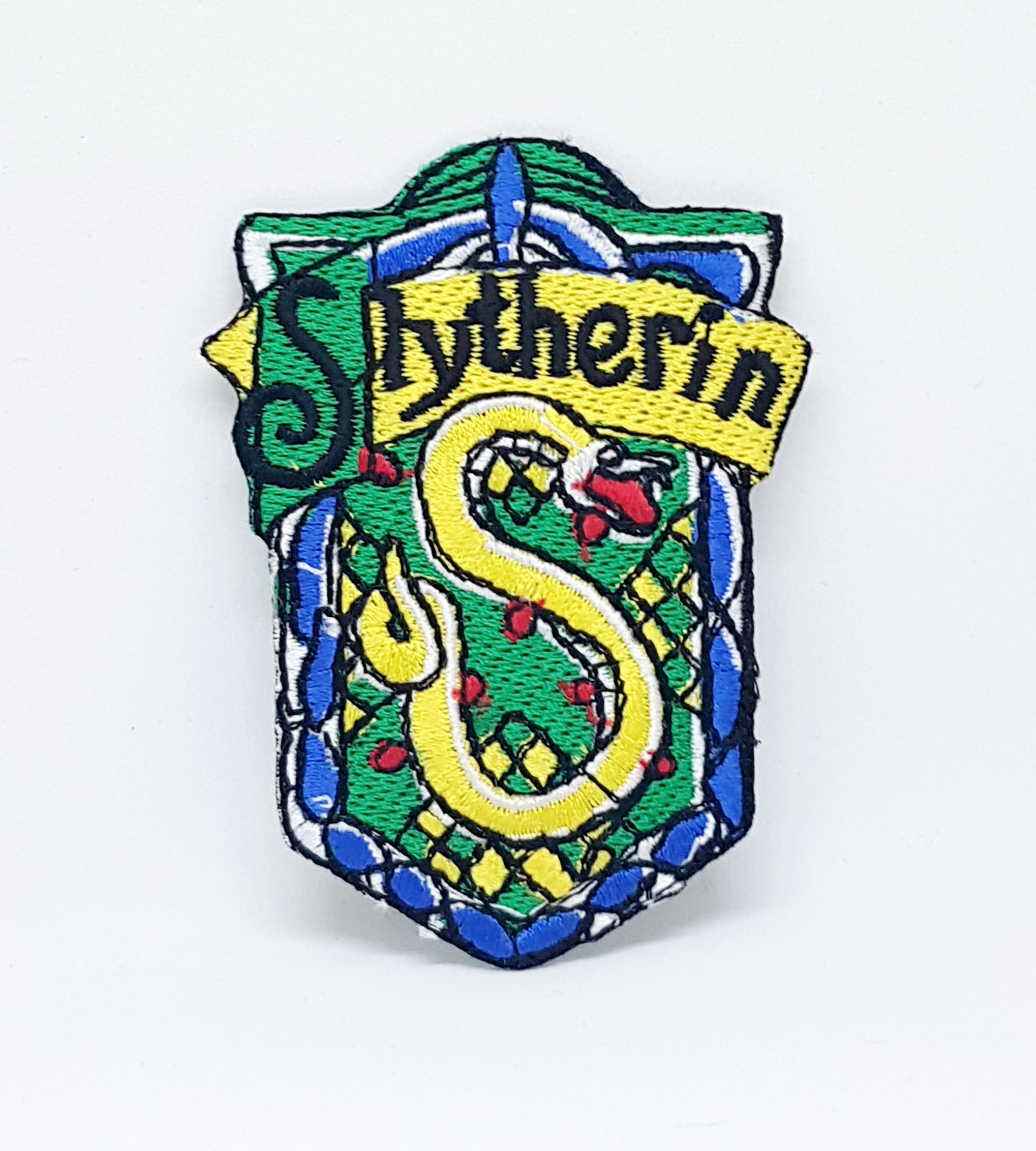 Harry Potter Slytherin Iron Sew on Embroidered Patch - Patches-Badges