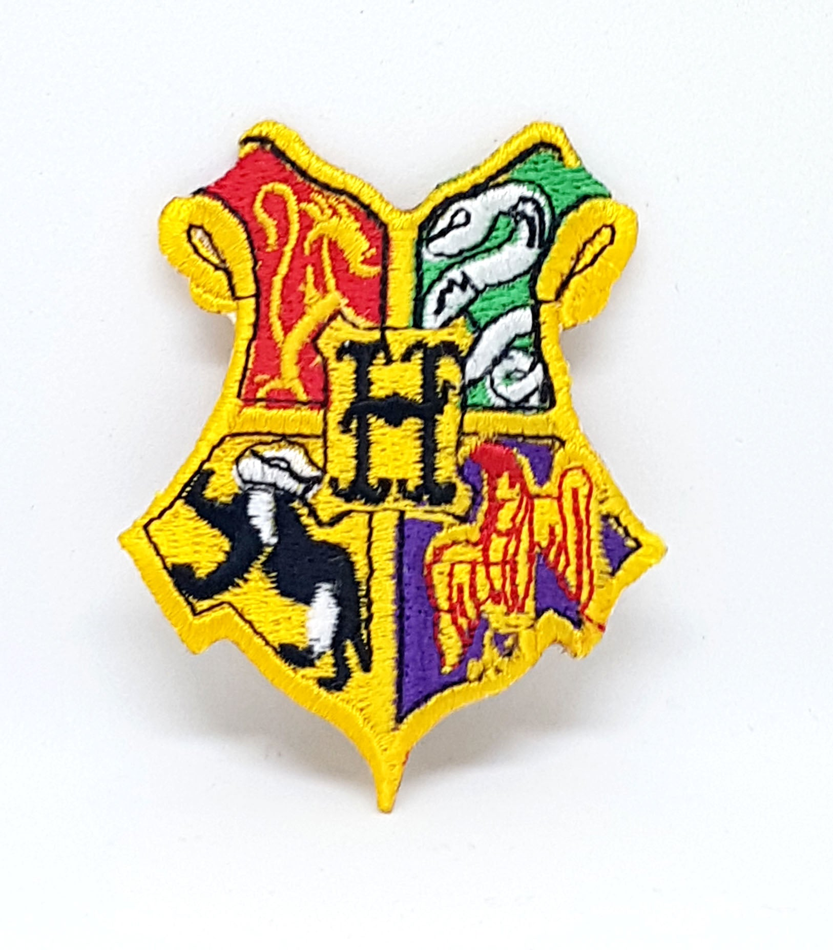 Harry Potter Hogwarts Yellow Iron Sew on Embroidered Patch - Patches-Badges