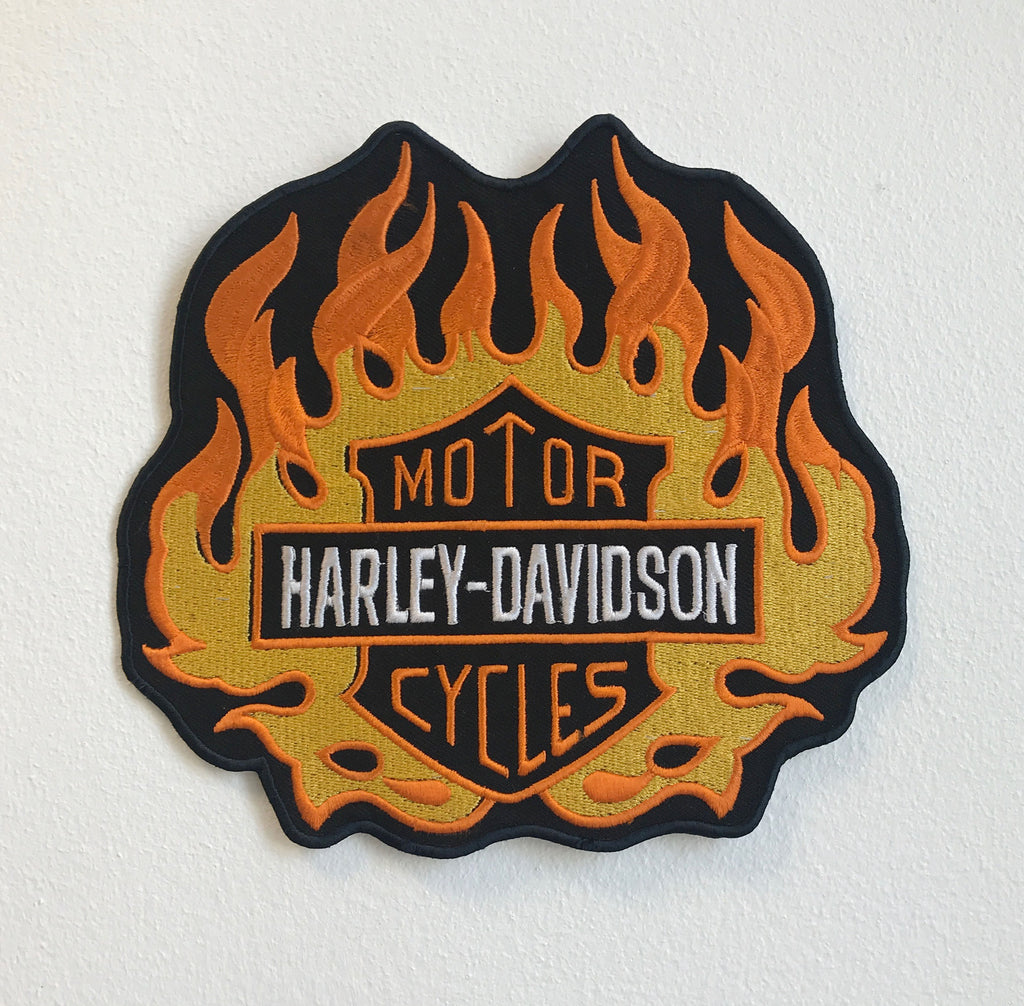 Harley-Davidson Motor Cycles Large Biker Jacket Back Sew On Embroidered Patch - Patches-Badges