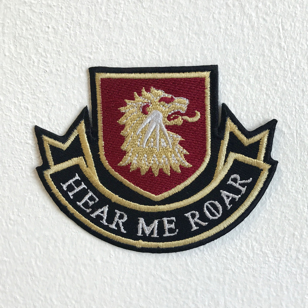 Hear Me Roar Lannisters GOT Iron Sew on Embroidered Patch