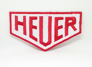 HEUER MOTORSPORTS RACING Iron Sew on EMBROIDERED Patch - Patches-Badges