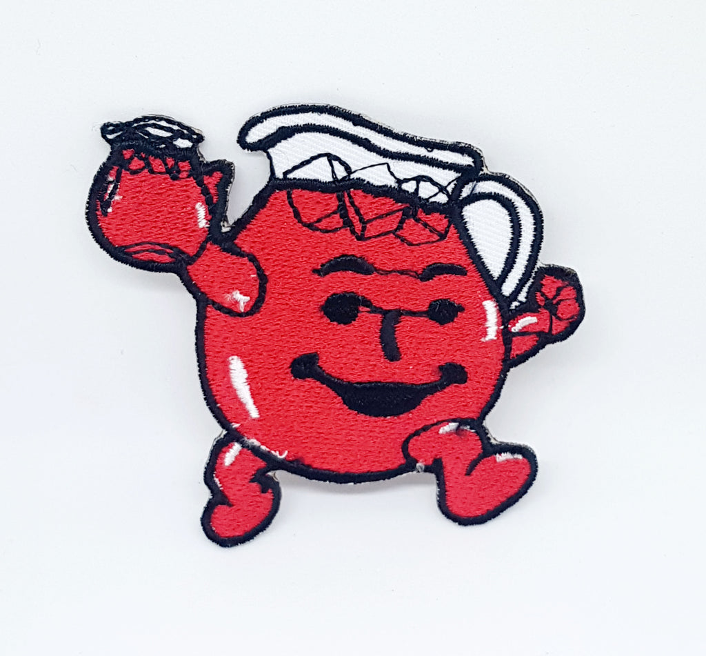 HEY KOOL AID MAN Iron Sew on Emblem Red Embroidered Patch - Patches-Badges