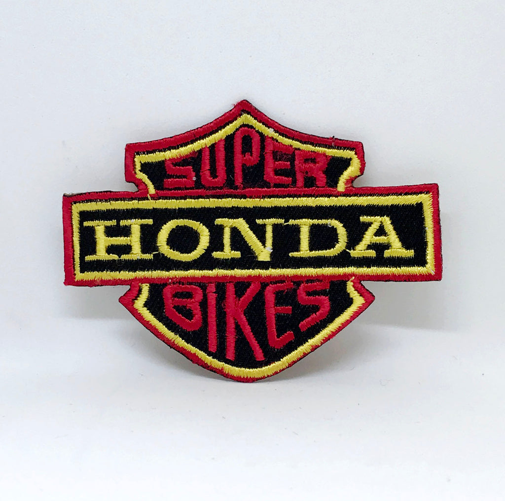 HONDA SUPER BIKES Logo Iron Sew on Embroidered Patch - Patches-Badges