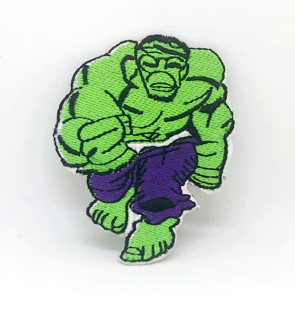 Incredible Hulk Running Die Cut Iron on Sew on Embroidered Patch