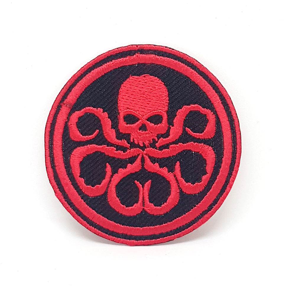 Comic Character Marvel Avengers and DC Comics Iron or Sew on Embroidered Patches - HYDRA Red Skull