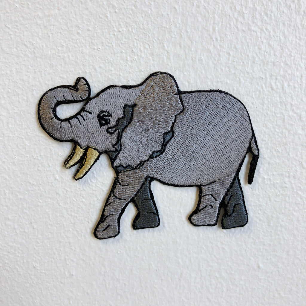 Cool Elephant Huge Animal Iron Sew on Embroidered Patch