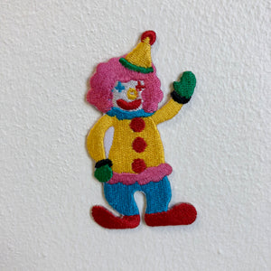 Cute Little Clown Joker Kids Iron Sew on Embroidered Patch - Patches-Badges