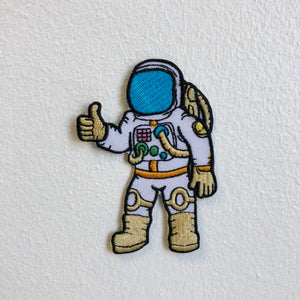 Space Journey Astronaut Thumbs up Iron Sew on Embroidered Patch