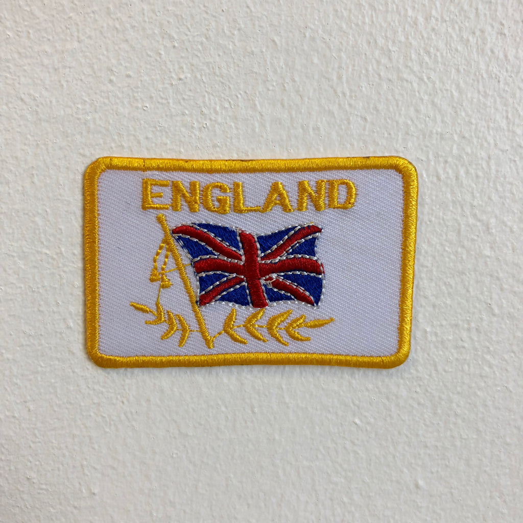 England Flag Union Jack Iron Sew on Embroidered Patch - Patches-Badges