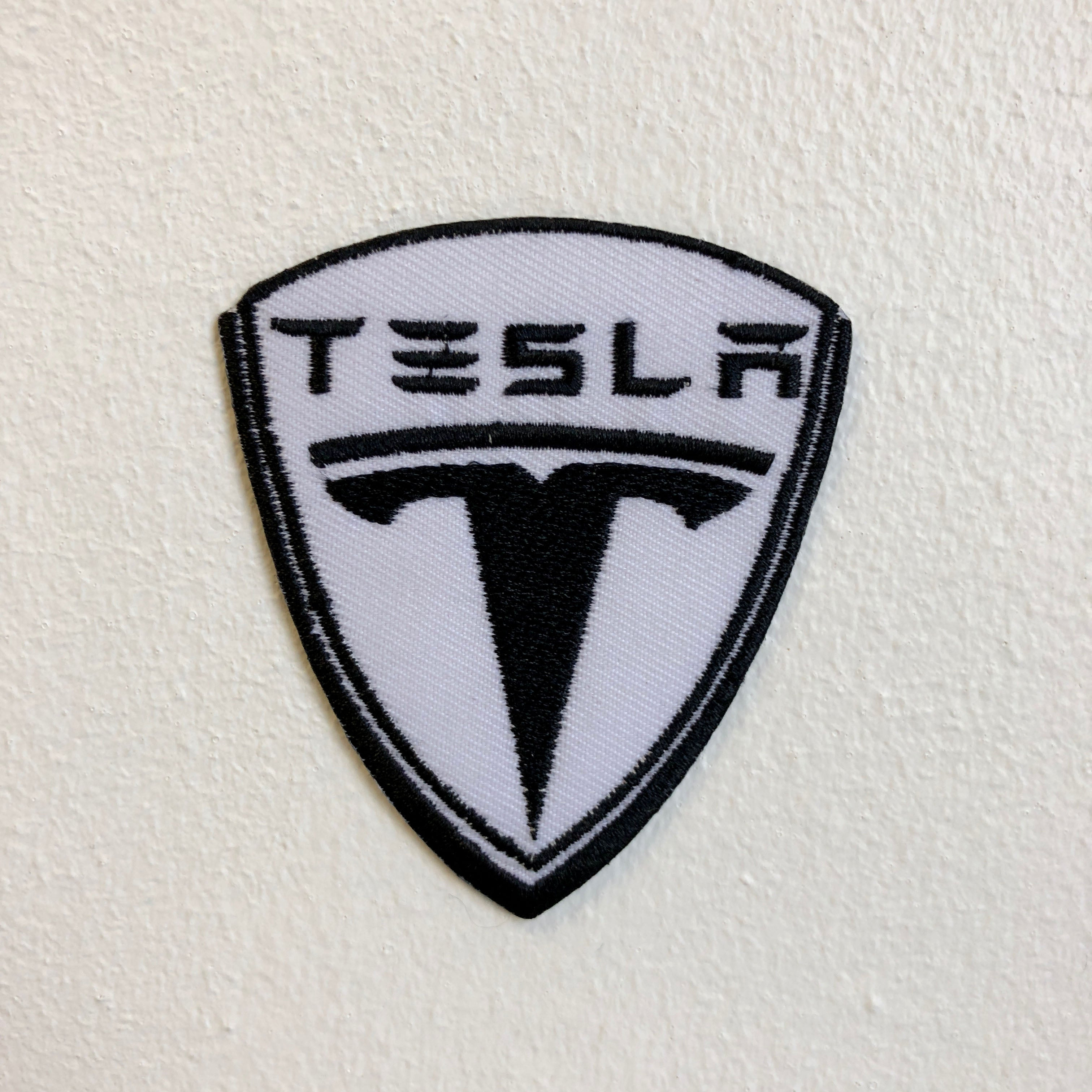 Tesla Motors Badge Logo Iron Sew on Embroidered Patch