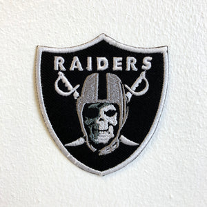 Raiders Skull Army Iron Sew on Embroidered Patch